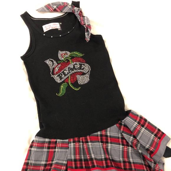 Girls 6 8 Rock N Roll Style Peace Bling Dress
